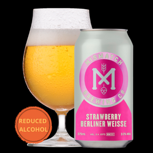 Mismatch Brewing STRAWBERRY BERLINER WEISSE | 24 x 375ml Can Carton | 3.0% ABV