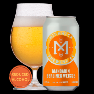 Mismatch Brewing MANDARIN BERLINER WEISSE | 24 x 375ml Can Carton | 3.0% ABV