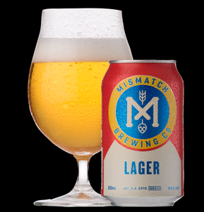BEER SPECIAL: Mismatch Brewing Lager | 24 x 330ml Can Carton | 4.5% ABV