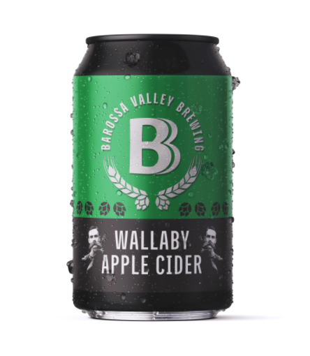 Barossa Valley Brewing Wallaby Apple Cider | 24 x 375ml Can Carton | 8% ABV