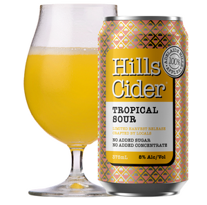 Hills Cider Cloudy Sour Cider | 24 x 375ml Can Carton | 8% ABV