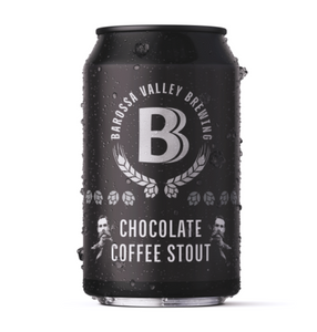 BEER SPECIAL: Barossa Valley Brewing Chocolate Coffee Stout | 24 x 375ml Can Carton | 7.0% ABV
