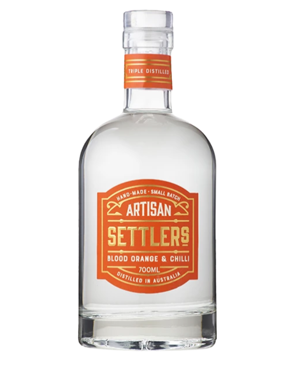 Settlers Blood Orange and Chilli Gin | 6 x 700ml Bottle Carton | 43% ABV