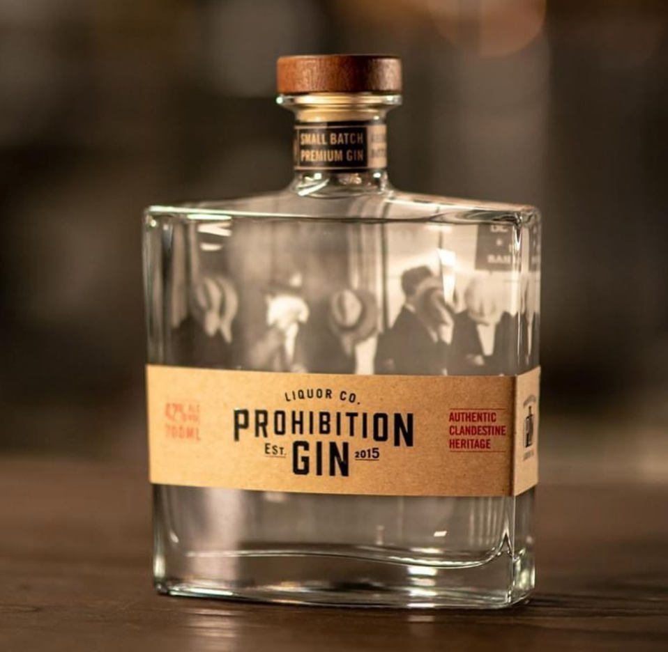 Prohibition Original Gin | 1 x 700ml Bottle Carton | 42% ABV