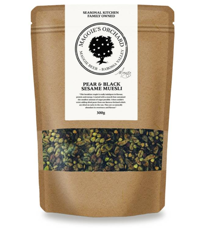 Maggie Beer | Pear & Black Sesame Muesli | 300gm
