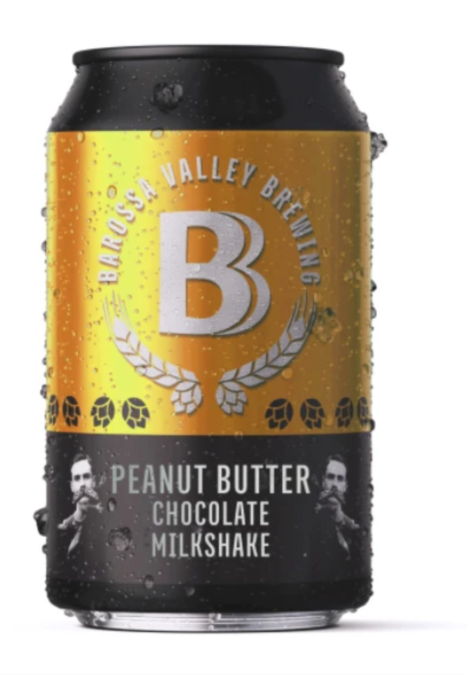 CHRISTMAS SPECIAL: Barossa Valley Brewing Chocolate Peanut Butter Milkshake | 24 x 375ml Can Carton | 4.1% ABV