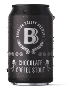 CHRISTMAS SPECIAL: Barossa Valley Brewing Chocolate Coffee Stout | 24 x 375ml Can Carton | 7.0% ABV