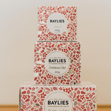 Load image into Gallery viewer, CHRISTMAS SPECIAL: 2 x Baylies Epicurean Christmas Cakes | Individually Gift Wrapped | 450gm Each