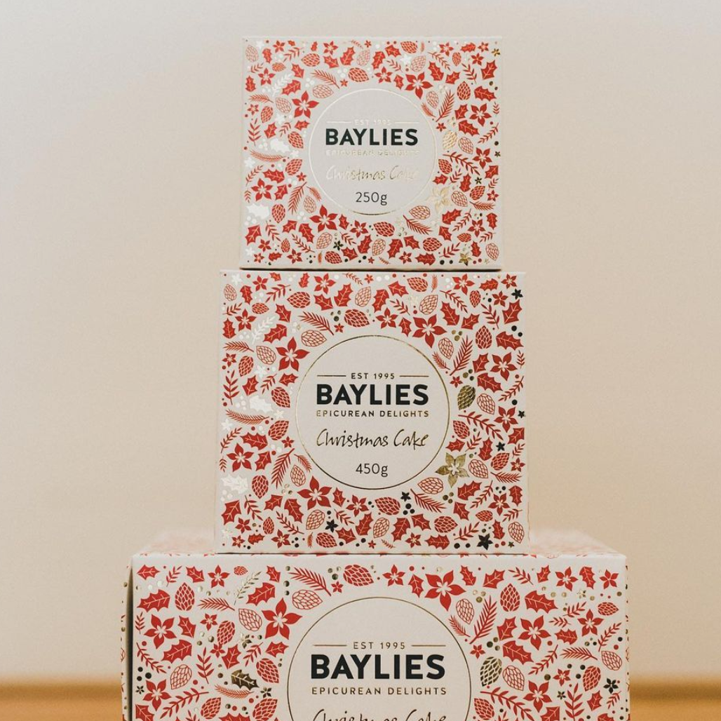 CHRISTMAS SPECIAL: 2 x Baylies Epicurean Christmas Cakes | Individually Gift Wrapped | 450gm Each
