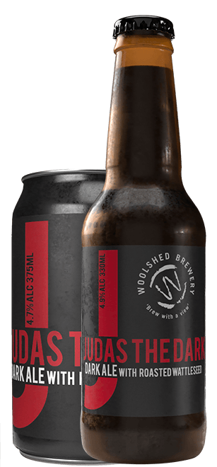 Wilkadene Woolshed Judas the Dark - Dark Ale | 24 x 375ml Can Carton | 4.7% ABV