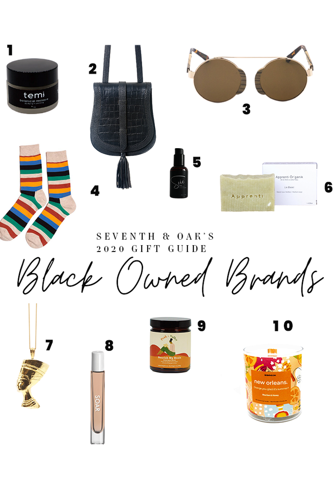Seventh and Oak Gift Guide - Black Owned Brands