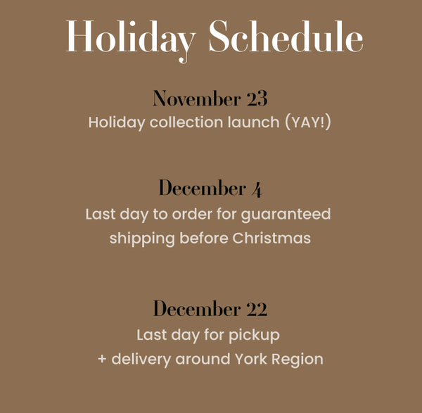 Seventh and Oak holiday schedule