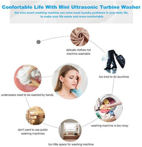 The best housework helper-Portable ultrasonic washing machines