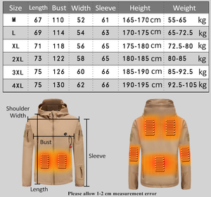 Heated Outdoors Waterproof Military Tactical Jacket