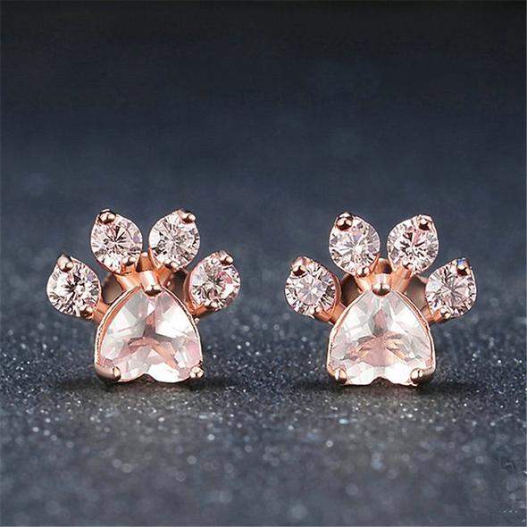 Rose Gold Paw Earrings(Buy 2 Free Shipping)