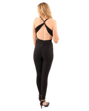 Women's Clothing Alanda Jumpsuit in Black with Form-Fitting Fabric