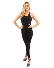 Women's Clothing Extra Large / Black Alanda Jumpsuit in Black with Form-Fitting Fabric