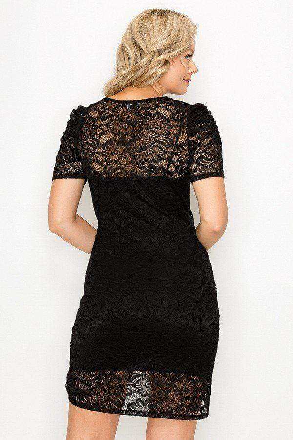 High-low Lace Mini Dress