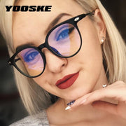 Unisex Glasses Frame Anti Blue Light Eyeglasses Frame Vintage Round Clear Lens