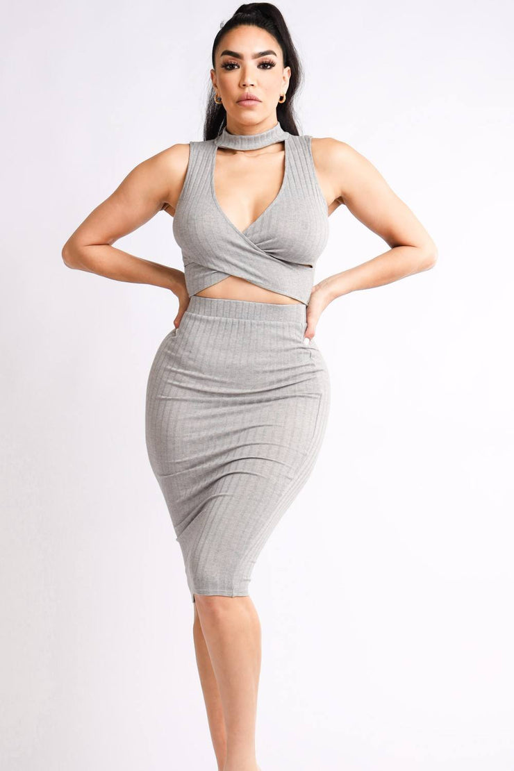 S Halter Top & Skirt Set