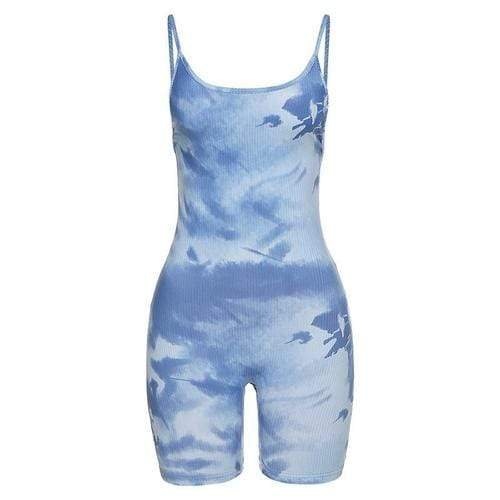 Jumpsuits & Rompers L / Blue Women Backless Romper Sleeveless Playsuit