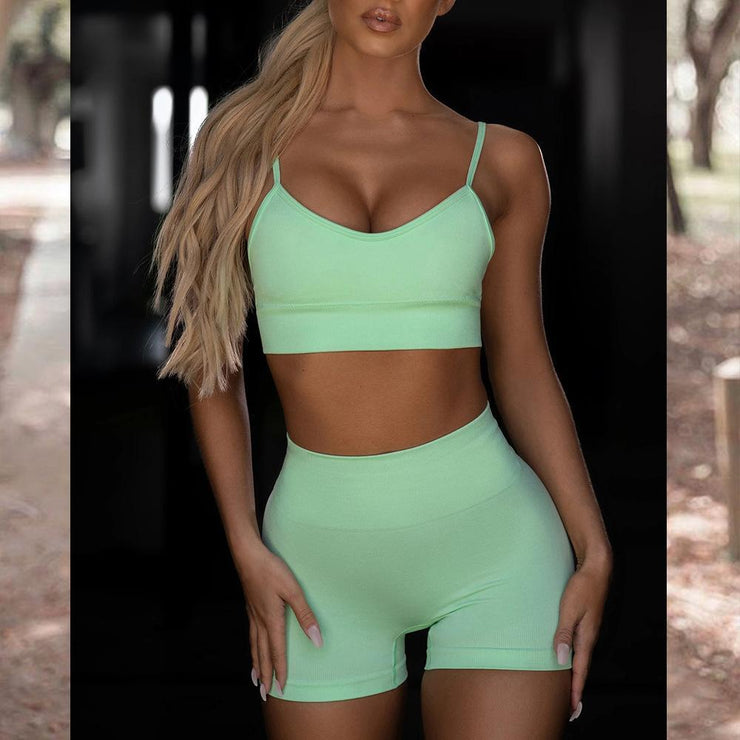 Matching Sets Sexy Tank Top sport  and Shorts Sports Two-piece Set