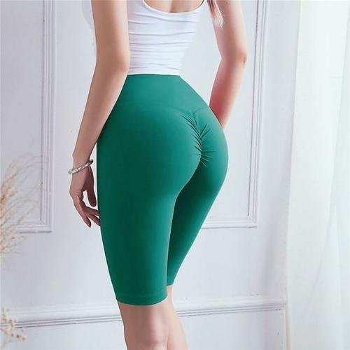 Women's Clothing L / Dark Green Fitness Shorts Hot Chrysanthemum High Waist Tight