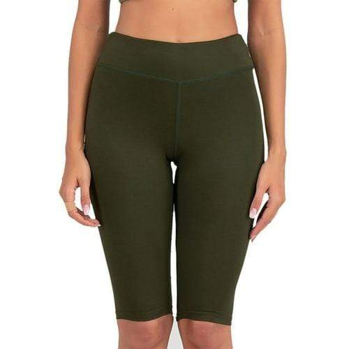 Women's Clothing L / style 4 Sexy Women Stretch Biker Shorts/Workout Leggings Neon Green Black