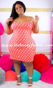 Neon Orange Dotty Dress