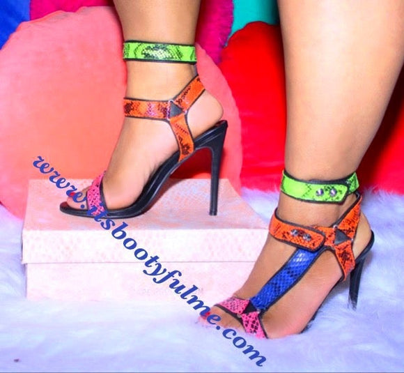 Color Block Heels