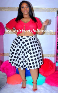 Dotty Skater Skirt
