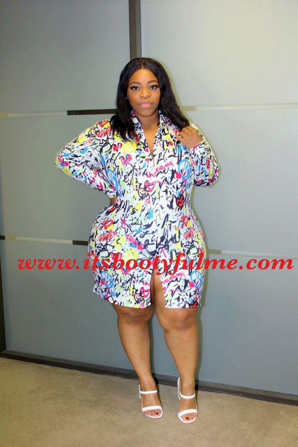 Graffiti Boyfriend Shirt/Dress