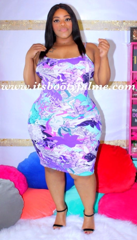 Magazine Dress-Purple
