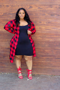 Red Plaid Duster