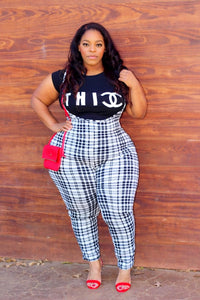 Nyah Plaid Jumpsuit