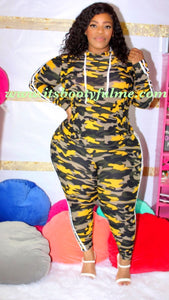Camo 2-Piece Set-Yellow