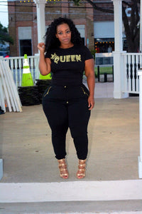 Black/Gold Queen Tee