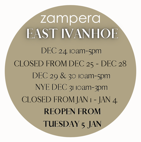 Shop Zampera Ivanhoe opening hours