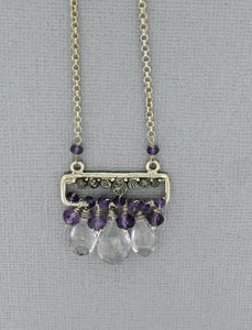 Amethyst Necklace in Sterling Silver
