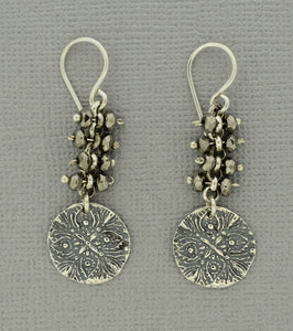 Sterling Silver Earrings with Czech Glass beads