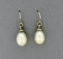 Load image into Gallery viewer, White Pearl Drop Earrings