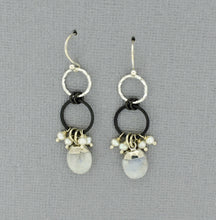 Load image into Gallery viewer, Rainbow Moonstone Drop Earrings