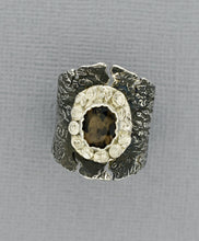 Load image into Gallery viewer, Cracked and Distressed Silver Ring