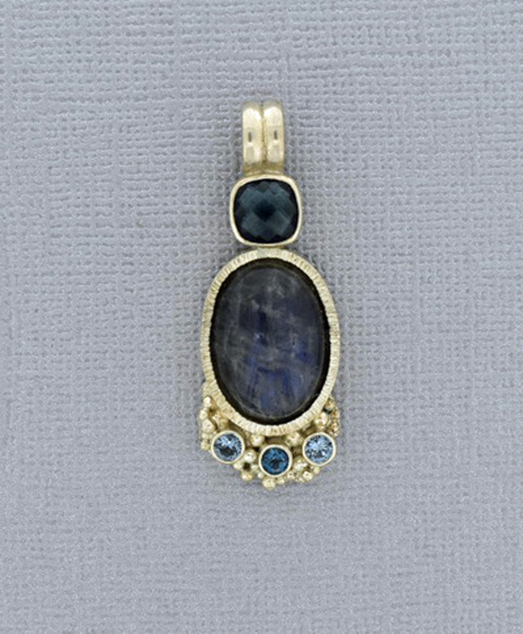 Labradorite Pendant with London Blue Topaz accents