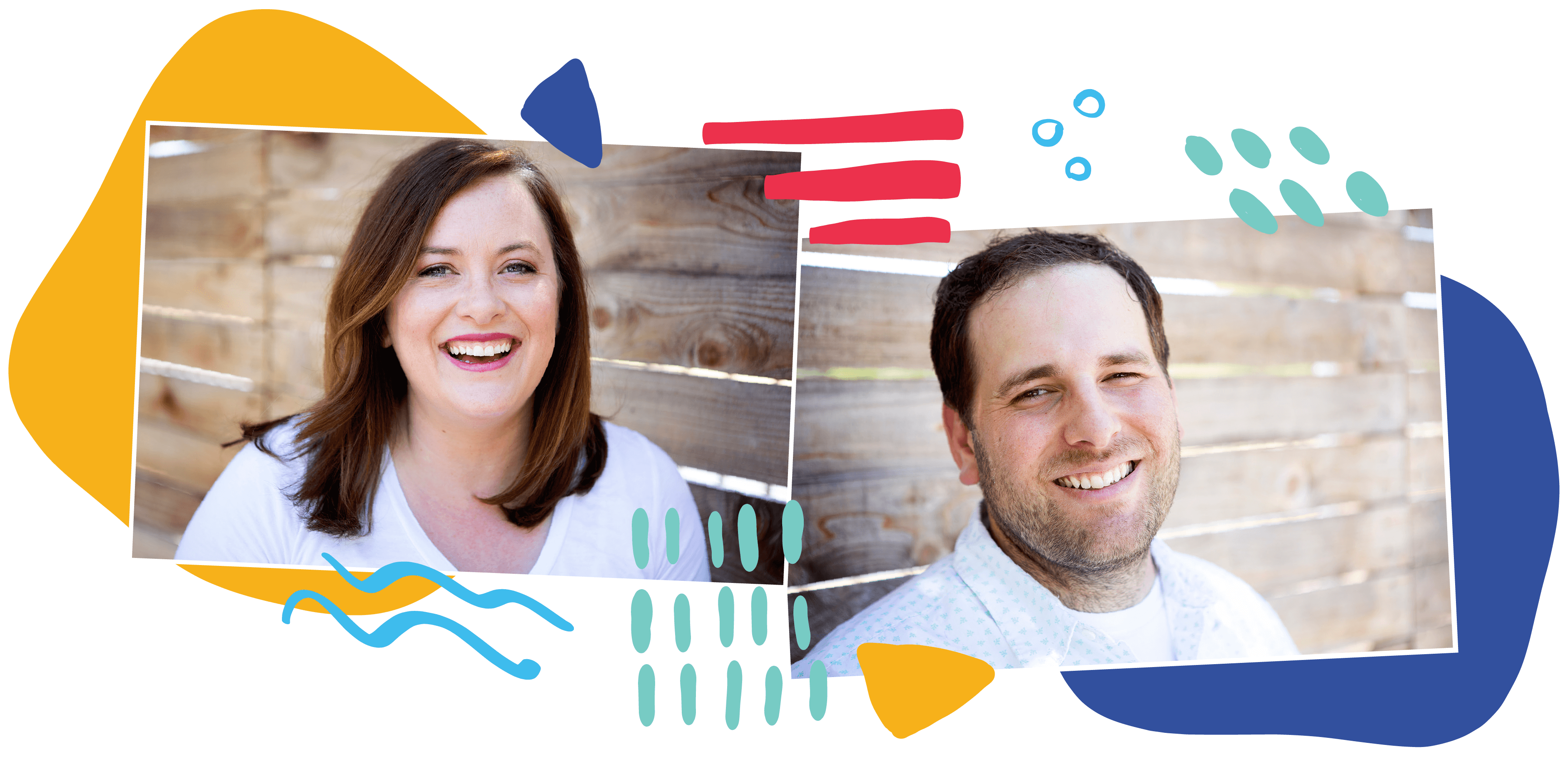 Headshots of Crystal and Joshua Foley from Flour Child Baked Goods
