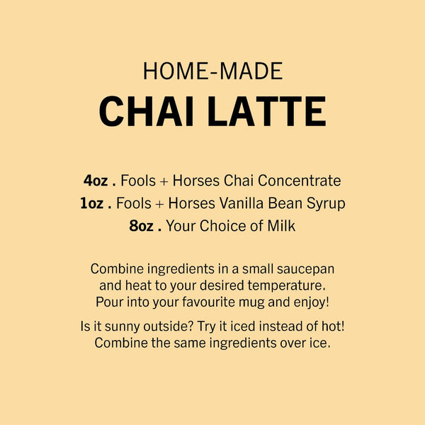 32oz F&H Chai Concentrate