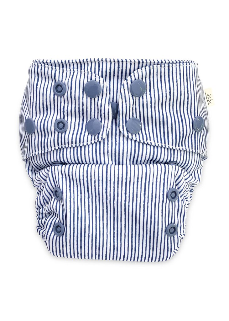 Modern Cloth Nappy // Indigo Pinstripe
