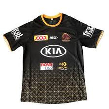 Load image into Gallery viewer, Brisbane Broncos Black Training Tee 2020