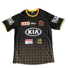 Brisbane Broncos Black Training Tee 2020
