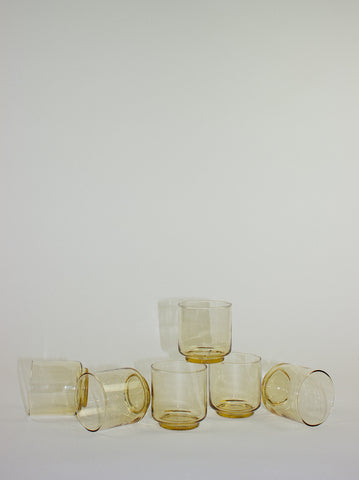 Golden Glass Lowball Set